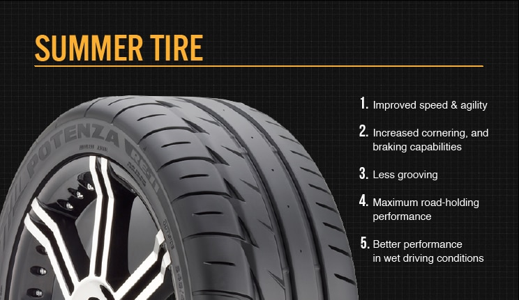 summer tire features