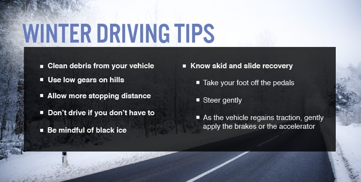 Winter driving safety tips bridgestone tires